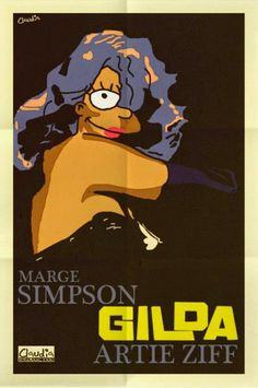 Gilda, simpsonizada.