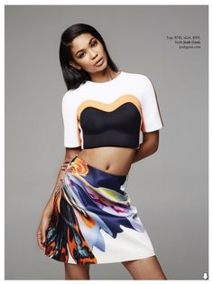 FAB Fashion Chanel Iman Is Tropical In Fashion Editorial For Elle Australia February 2014 Issue (4)