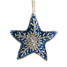 Embroidered Holiday Ornaments