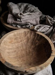 Primitive Hand Carved Wooden Bowl