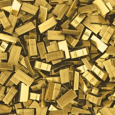 Dress your walls in gold bullion with this offering from Muriva! Chaotic and lavish, pattern offers a different decorating solution for any home or office! Gold Bullion Bars, Gold Reserve, I Love Gold, Dollar Money, Money Stacks, Crypto Bitcoin, Gold Stock, Modern Wallpaper, Silver Bars