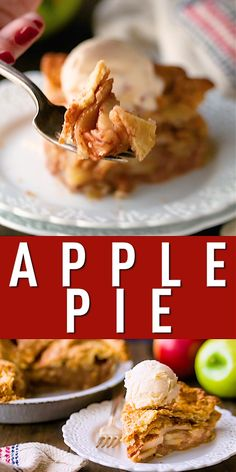 Perfect Apple Pie: tender cinnamon-spiced apples baked in a flaky, buttery crust. A total classic! This recipe always ge Easy Pie Recipes, Apple Pie Recipes, Sweet Recipes, Cooking Recipes, Apple Pie Recipe Video, American Apple Pie, Perfect Apple Pie, Souffle Recipes, Baked Apples