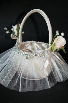 Fancy Flower Girl Basket