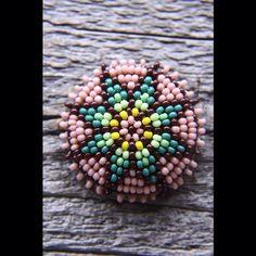 order / bead concho size 35mm pierce ¥3,780-(tax inclouded) #kazoo #koshigoya #bead #beadconcho #concho #beadwork #native #インディアンジュエリー #山梨県 #handmade