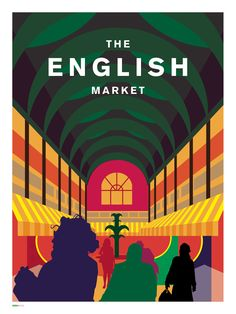 x Colour Lithographic print Olin Rough paper stock Cream Core Backing Board --- The English Market is a. Cork City, Cork Crafts, Design Crafts, Tourism, English, Marketing, Art Prints, Gallery, House Accessories
