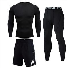 Men's Compressed Long Sleeve Shirt Pants Shorts Fitness MMA Clothing tactical rashguard jiu jitsu crossfit T-Shirt Jogging suits Mma Clothing, Sport Clothing, Track Suit Men, Sport Pants, Tight Leggings, Mens Fitness, Gym Fitness, Mens Suits, Sport Outfits