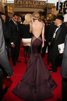 Taylor Swift - 2013 Golden Globe Awards - Beverly Hills Hotel - Beverly Hills, CA - Taylor Swift in Donna Karan @ Golden Globes