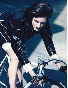 visual optimism; fashion editorials, shows, campaigns more!: rush hour: hilary rhoda by camilla akrans for vogue germany august 2014