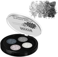 Lavera Trend sensitiv Mineral Eyeshadow Quattro Smokey Grey 01 Dermatologically & ophthalmologically tested. Suitable for people who wear contact lenses. Beautiful Lavera Mineral Eyeshadows come in an amazing array of colours. Eye catching eyeshadow colour tones. Made with natural, mineral colour pigments, the eyeshadows give a dreamy, silky-soft finish and provide amazingly long-lasting intense colour. Creates a professional colour result. Made with Organic ingredients. NATRUE Certified…