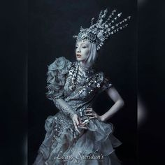 """Queen Hiemal""  Model - @Myfragility Styling - @agnieszkaosipa Photography - Laura Sheridan's Art  #art #portrait #portraiture #fairytale #fantasy #storytelling #statue #contemporary #costume #gothic #folklore #fashion #monochrome #editorial #princess #mythology #crown #dark #queen"