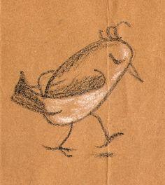 dp bird sketch #portlandia #putabirdonit