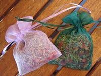Herb pouch for nightmares: Bay leaves Celery Mustard Seed Rose Petals  Rosemary Allspice Chamomile  Lavender Put the herbs in the pouch concentrating on a peaceful nights sleep. Place under your pillow or under the pillow of the one the pouch is for.