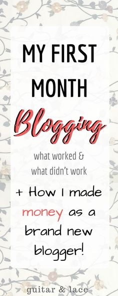 After my first month of blogging I have gained more views, followers and even made money! If I can do it, anyone can do it! Seriously!