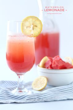 Watermelon Lemonade is easy to make and super refreshing! Go ahead and pour yourself a glass of this sweet and fruity drink!