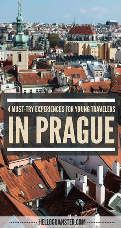 Headed to Prague? Here's 4 Must-Try Experiences for Young Travelers! Lots of fun & unique activities. #Travel #Prague