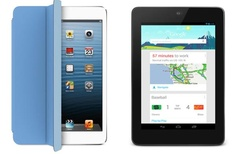 Nexus 7 vs. iPad mini examination with drop test visual review. The tablet debate continues.