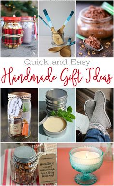 20 Quick and Easy Handmade Gifts - It's me, debcb! Easy Homemade Gifts, Diy Food Gifts, Homemade Food, Candy Gifts, Jar Gifts, Easy Diy Christmas Gifts, Christmas Ideas, Christmas Stuff, Christmas Presents