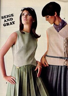 Seventeen Editorial shot by Carmen Schiavone 1966 60s And 70s Fashion, Junior Fashion, Mod Fashion, Fashion Models, Vintage Fashion, Fashion Outfits, Vintage Style, 1960s Dresses, 1960s Outfits