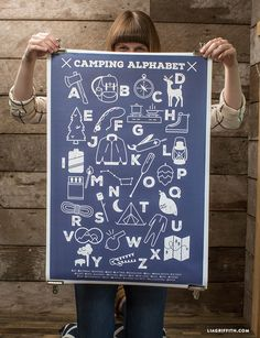 "Camping Alphabet Poster - Lia Griffith Idea for Classroom project ""Chabot Alphabet"" or similar"