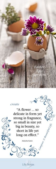 Easter - Easter Egg Garden  Easter Egg Gardens are perfect for table placements, home decor, Easter gift baskets and a functional way to start flower sprouts for your outside garden. #easter #homedecor