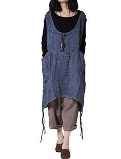 Women's Fashion Vests - Mordenmiss Womens Summer Vest Dress PullUp Hem Top ** Read more at the image link.