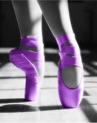 Purple Pointe Shoes My Favorite Color and my passion