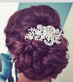 Up do for thick long hair!