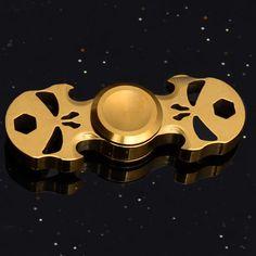 Fidget Spinner Ghost Skull Pattern Torqbar fidget spinner ADHD Focus EDC Toys. Brass materials Ghost Skull figet spinner, finger hand spinner, cheap fidget toys