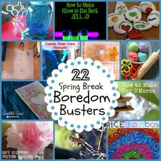 22 Spring Break Boredom Buster Ideas from MomAdvice.com.