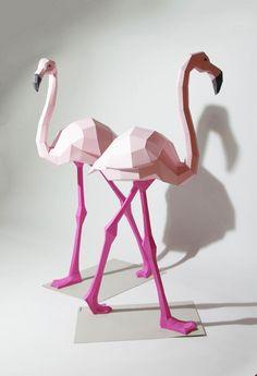 Polygonal Animals – De jolis animaux géométriques en papier