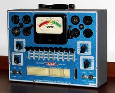https://flic.kr/p/WYbeBd | Vintage EICO Tube Tester, Model 625, Metal Cabinet, EICO Electronic Instrument Company, One Vacuum Tube (6H6), Made In USA, Circa 1950 - 1952 | Auction Item 181A -- Cledis Estes Auctions II of Medina, Ohio.