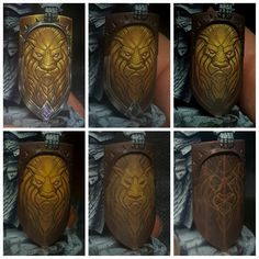 Lion Head on a shield freehand