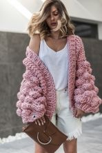 Cardigans Warm Up Dusty Pink thumbnail
