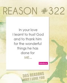 Reasons Why I Love You #322
