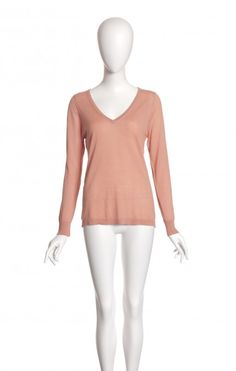 MICKY crevette - #cavadesoi #pull #pullover #cotton #egyptiancotton #sustainable #sustainablefashion #summer #summeroutfit #oldpink #vneck #montreal #canadian #fashion