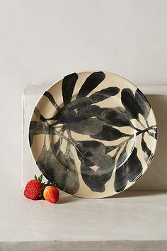 watercolor foliage in grey tones Sepon Dinnerware #anthropologie