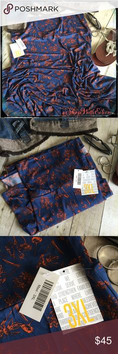 🦄🆕 Lularoe BLUE TANGERINE FLORAL MAXI skirt! 🦄🆕 Lularoe BLUE TANGERINE FLORAL MAXI skirt! THE SKIRT! 😀The Maxi skirt is a go-to piece for the woman who wants to be comfortable throughout the day but still likes to look her best. It's perfect for the woman whose demanding day requires function and style from her wardrobe. The LuLaRoe Maxi Skirt can easily be worn while playing on the ground with kids and transitions effortlessly to a night on the town! It can be worn MANY ways! 95%…