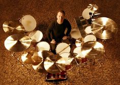 Neil Peart, drummer for the Canadian progressive rock trio, Rush. Many see him as the best rock drummer of all time.