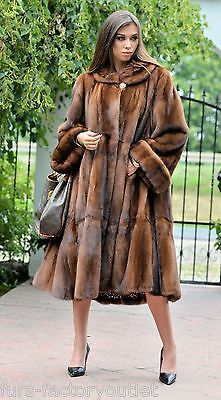 Nouveau 2016 demi Buff Royal SAGA MINK FUR libertin Manteau Clas Poncho sable Fox Veste