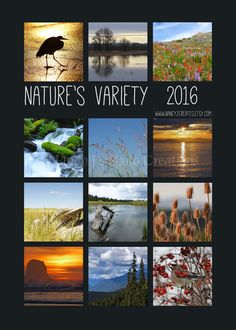 2016 Nature Calendar  Gift for Him ~ Nature Photography ~ Gift for Outdoor Enthusiast by #NancyJCreates on Etsy ~ $20