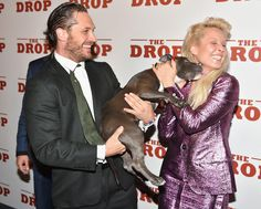 Puppies. | 38 Times Tom Hardy Melted Your Heart With His Love For Dogs