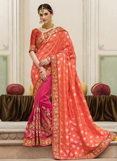 Orphic Jacquard Resham Work Designer Saree