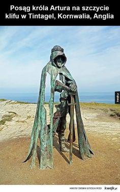 Post with 3564 votes and 123253 views. Tagged with statue, king arthur, excalibur; Statue of King Arthur, Tintagel Cliffs, England Roi Arthur, King Arthur, Sculpture Metal, Abstract Sculpture, Wire Sculptures, Public Art, Oeuvre D'art, Metal Art, Amazing Art