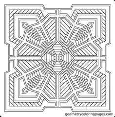 """Clover Tile""  geometrycoloringpages.com"