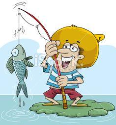Fisherman Royalty Free Stock Vector Art Illustration