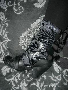 20a5259fc02 Victorian Steampunk Spats Boot Covers Oriental Geisha Gothic Cosplay Lolita