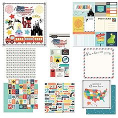 Scrapbook Customs Themed Paper  Stickers Scrapbook Kit