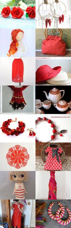 Red Summer by Coco on Etsy--Pinned with TreasuryPin.com  #Etsyvintage #Estyhandmade #summerfinds
