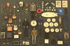 Desert discs...Ultimate Survival Kit    Inside Album cover by David Herranz