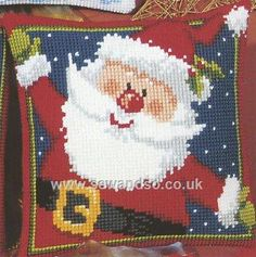 Father Christmas Cushion Front